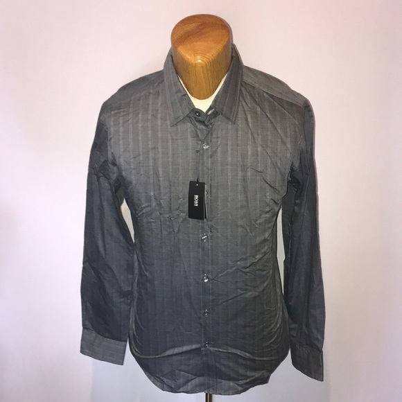 Hugo Boss Dress Shirt blue and grey 16